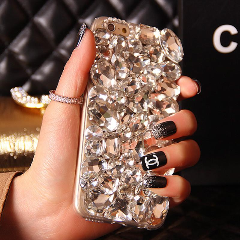 Bling Crystal Rhinestone Diamond Phone Case Cover For Iphone 8 X 6 Plus 7 5S 5C 4S Samsung Galaxy Note 5 4 3 2 S6 S8