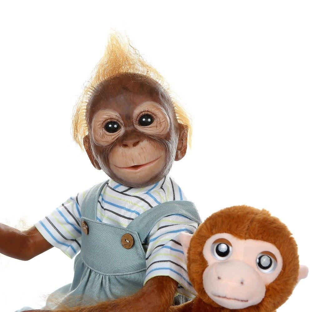 52 cm nouveau singe créatif Silicone bébé poupée 100% Non toxique Reborn bébés réaliste lol poupée pour enfants anniversaire noël bebe cadeau jouet - 3