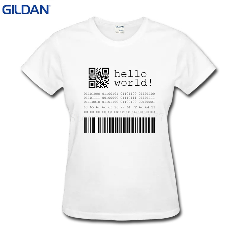 dbdab9a60 Letter T Shirt female Cotton Java Programmer Computer Hello World Code  Linux Geek Team Wear Basic