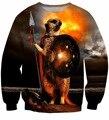 Men Women Harajuku Sweatshirts Vintage Utopia Spartan Print Sweatshirts Male Female Funny Animal 3D Outerwear Crewneck Pullovers