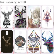 Luxury Mr Deer Series Fashion Phone Cover For Samsung Galaxy Note III 3 Note3 Case Durable Plastic and Silicon Mobile Phone Bags