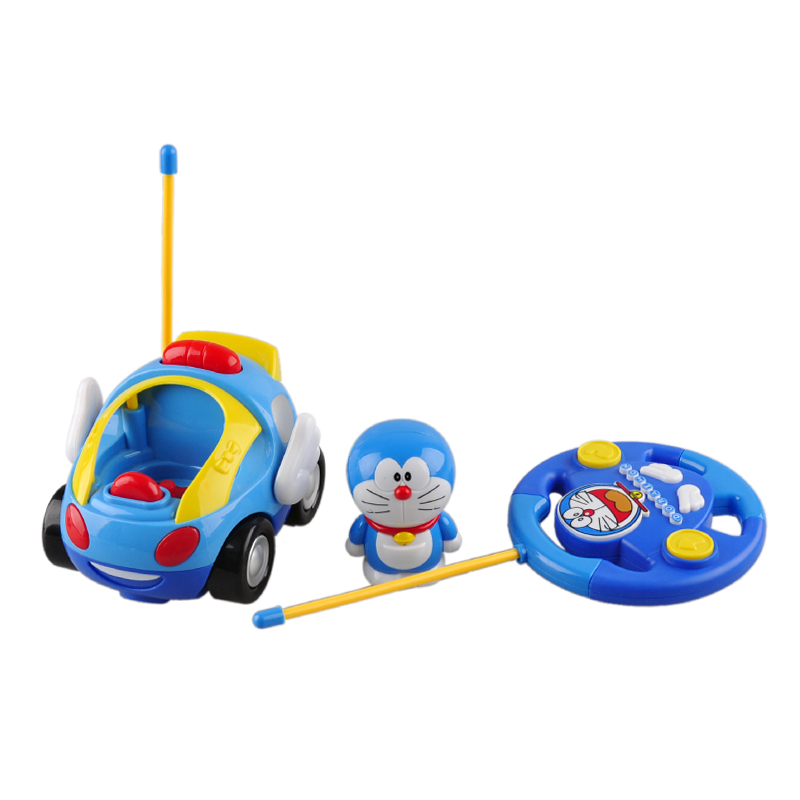 Great Gifts Kids Electric RC Car Radio-controlled Speed Toys Remote Control Cartoon Car Toy for 1 Year Baby Kids Music Toys