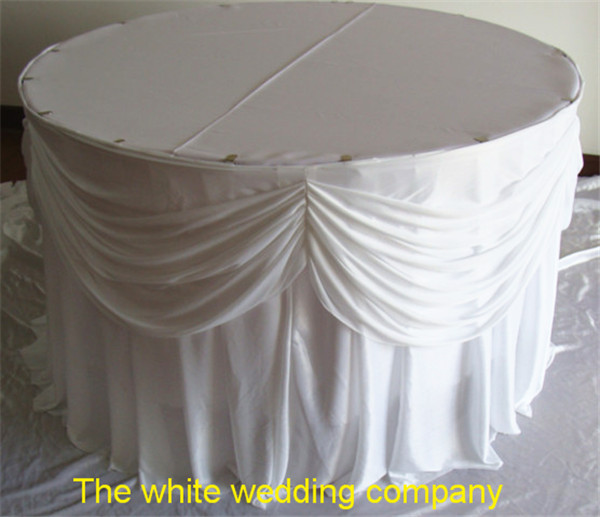 Round Skirted Table Skirted Octagonal Table In Foyer With