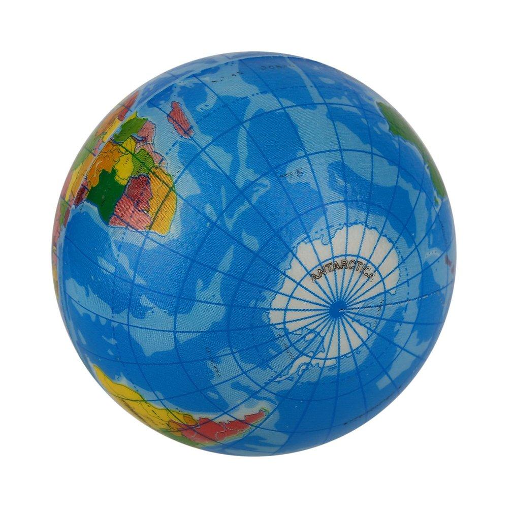 Mini Funny World Map Foam Earth Globe Stress Bouncy Ball Toy Geography Atlas