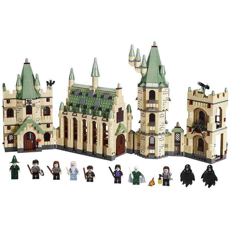 Harri Potter Series Magic School Hogwarts Castle Model Building Block 1340pcs Bricks Compatible With Legoings 4842 movie series king castle battle siege set model building block bricks toys compatible legoings city castle 7094