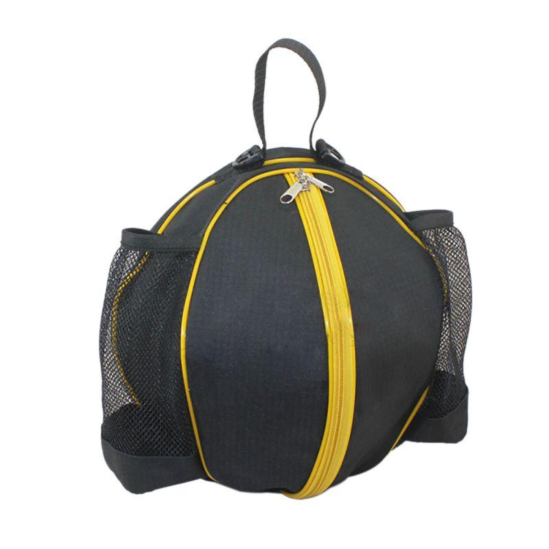 Круглая Сумка для мячей, рюкзак для баскетбола, волейбола, футбола, регулируемый наплечный ремень, сумки для хранения-3