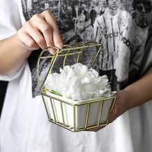 Современный керамический цветочный горшок с металлической полкой