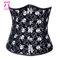 Burlesque Skull Pattern Underbust Steampunk Corset Steel Bone Waist Slimming Corsets and Bustiers Gothic Sexy Waist Corselet