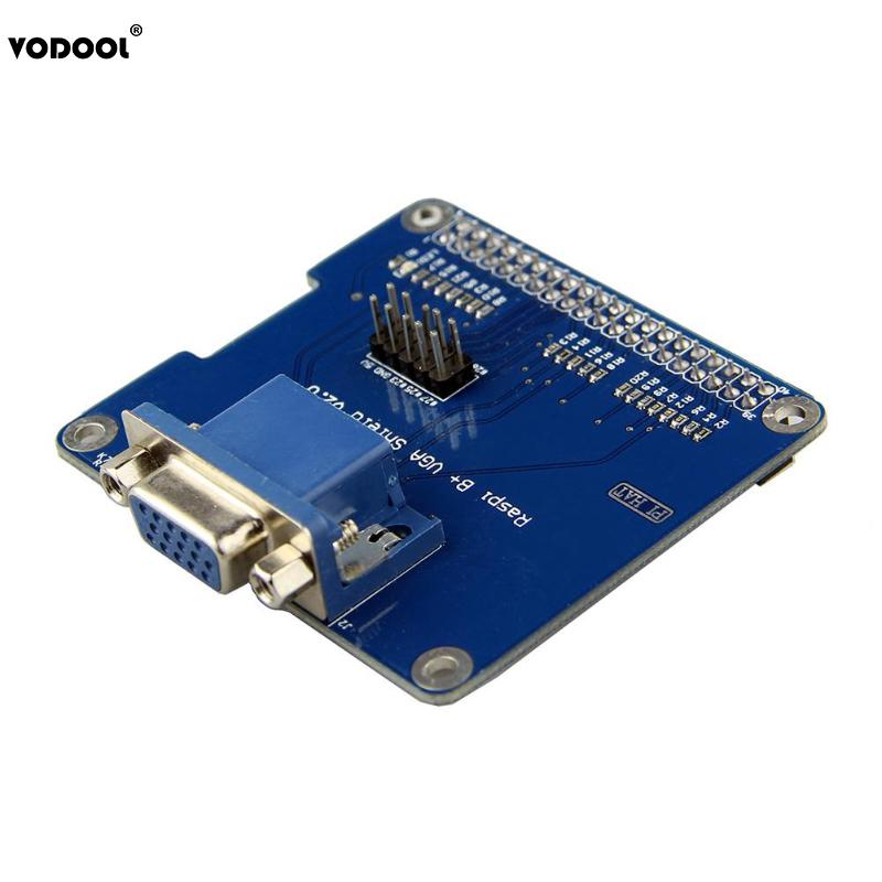 VODOOL VGA Shield V2.0 Expansion Board For Raspberry Pi 3B/2B/B+/A+ Extend VGA Interface Via GPIO Remain HDMI Expansion Card