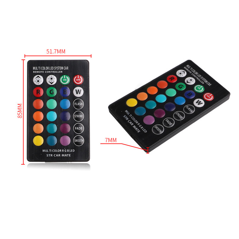 T10 5050 Remote Control Car Led Bulb 6SMD Multicolor W5w 501 Side Light Bulbs GA