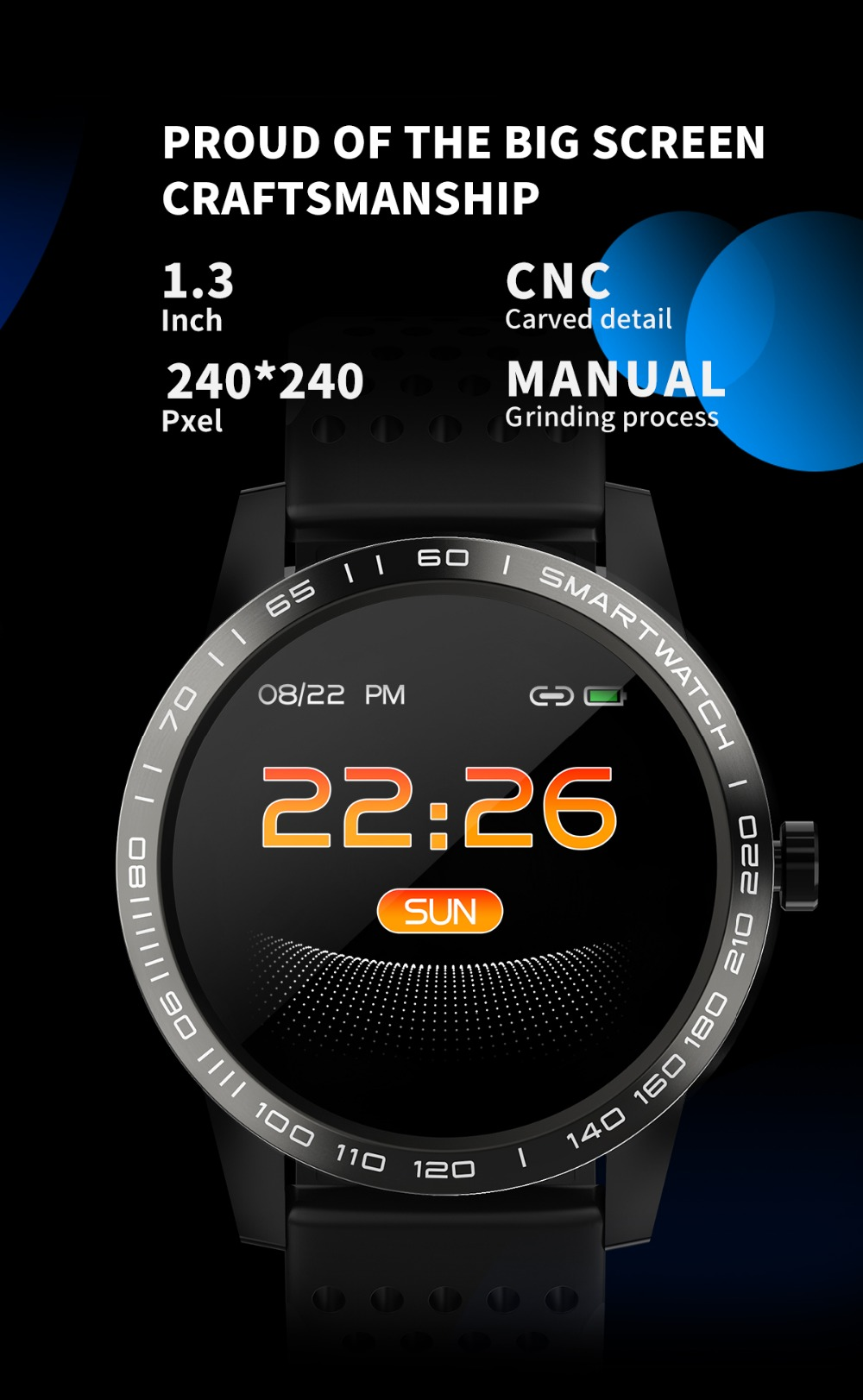 Wearpai T2 bluetooth smart watch men women Fashion Fitness Tracker Heart Rate monitor watches for android ios waterproof ip67 5