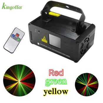 Led Stage Light RED Green Yellow Mini DM-RGY200 IR Remote 8CH DMX512 stage Lighting Scanner DJ Party Show Projector lazer Lamps disco beam laser light professional remote dmx512 red 200mw stage lighting scanner dj party show xmas light led effect projector