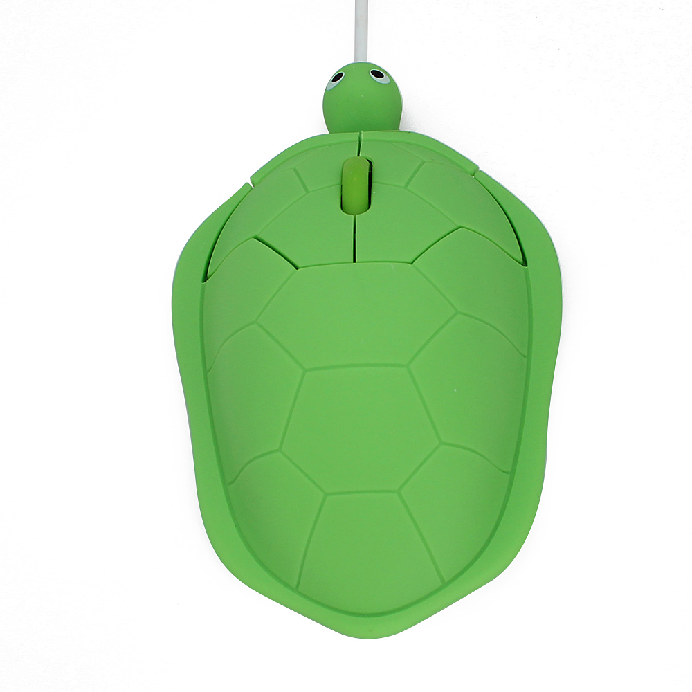 Wired Mouse Creative Cartoon Turtle Shape USB Optical Computer Mice Mini Ergonomics Mause Gaming Mouse for PC Laptop kids Gift