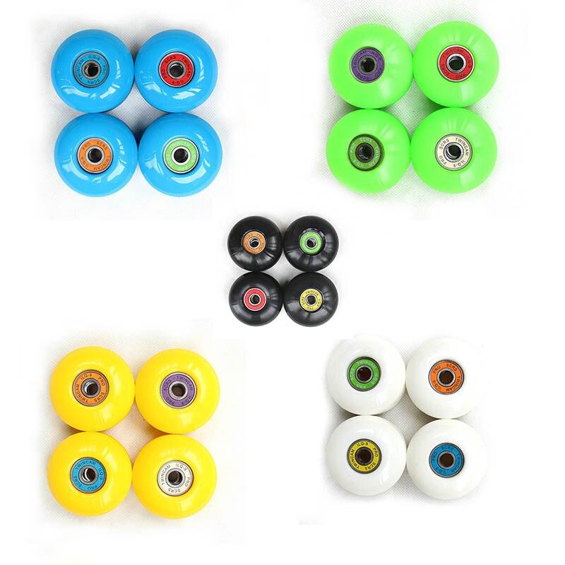 4Pcs PU Skateboard Wheels Set 52mm 100A Skating Road Wheels Longboard Wheels New