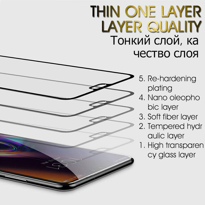 Image 2 - 35D Protective Glass For Huawei P20 Lite Pro P30 P10 Lite Tempered Glass For Huawei Honor 9 Lite 10 V10 Screen Protector Film-in Phone Screen Protectors from Cellphones & Telecommunications