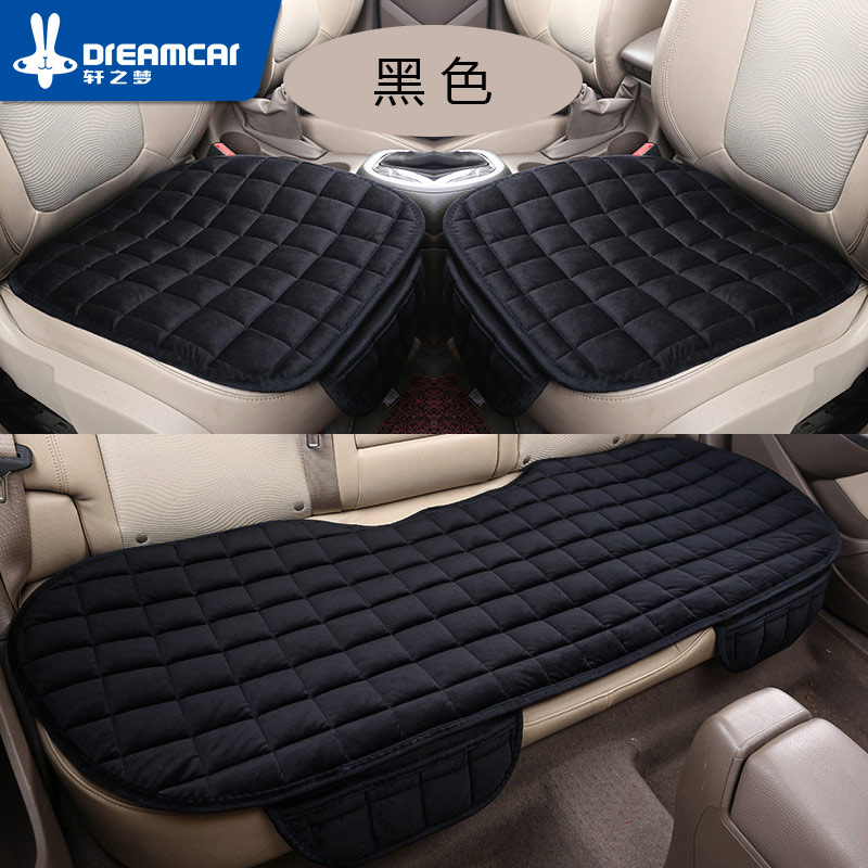 Car Seat Cover Universal Set Winter Accessories Car Seats Cushion Non-Slip Front Rear Left Right Auto Chair Protectors Soft Warm