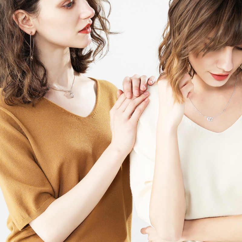 Alta calidad 2019 nuevos pulóveres Otoño Invierno mujeres cuello pico suéteres media manga Color sólido suéter Elegatn Tops tejidos AB005