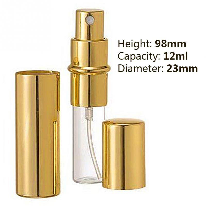 Myer Perfume Refill: 1pc 12ml 98*23mm Golden Perfume Bottle Refillable Perfume For Spray Scent Pump Case Mini