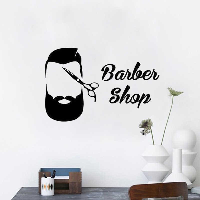 クリエイティブ美容師美容サロン理髪店diy壁紙取り外し可能なビニールホームインテリアアートウォールステッカーJG1300