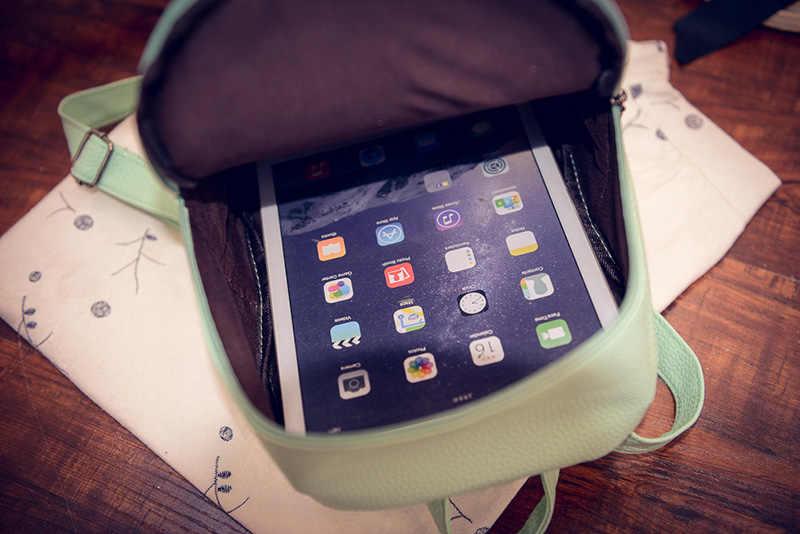 Бесплатная доставка Сладкий Колледж ветер мини сумка Высокое качество Искусственная Кожа Модная одежда для девочек ярких цветов небольшой рюкзак, женская сумка