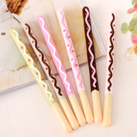 10pcs Set Factory Wholesale New Chocolate Biscuits Gel Pen Plastic Gel Pen Stationery School Child Gift