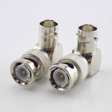 1 Pc BNC Male Connector Adapter L shaped Right Angle to BNC Female Jacks Adapter for CCTV Security Video Surveillance System