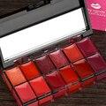 Nueva marca de Alta Calidad de 12 Colores Estilo brillo de Labios Maquillaje Hidratante Nutritiva Duradera Mate brillo de Labios Brillo de Labios Paleta Pigmento