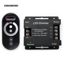 DC12V-24 3 channels  output  18A wireless Rf touch remote control brightness controller for single color led strip dimmer