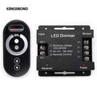 DC12V 24 3 Channels Output 18A Wireless Rf Touch Remote Control Brightness Controller For Led Strip