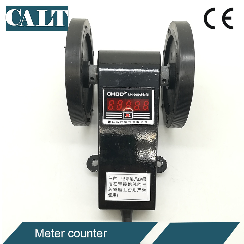 цена на LK-90S / LK-90SC AC digital rolling wheel counter meter digital length measuring counter meter