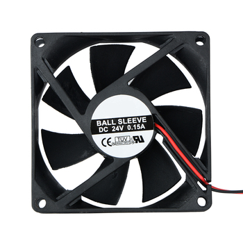 1 Pcs 2 Pin DC 24V 80x80x25mm 8025 Dual Ball Motor Cooling Fan 80mm x 25mm PC Case CPU Brushless Cooler 8cm Fans & Cooling