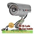 Câmera de segurança de 1/3 ''sony cmos 1200tvl 36 led ir color Visão noturna de Vigilância Em Casa Câmera de CCTV Câmera de Vídeo Ao Ar Livre & 9200C