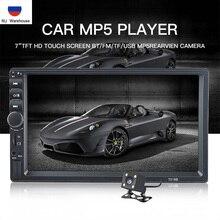 "TOPSOURCE 7018B 7 ""HD Touch Screen Car Radio 2 Din Audio Stereo Bluetooth Video MP5 Multimedia Player Radio FM TF AUX Ingresso USB"