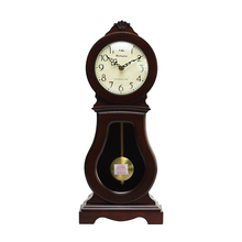 Weilingdun Music Hourly Chiming High Quality Table Clock Europe Antique Wooden Mute Quartz Desktop Clock T20238
