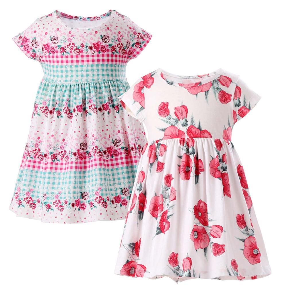 01503b743b07 Floral Teenage Girls Dress 2018 Summer Unicorn Party WeddingLittle Sister  Twins Princess Kids Dresses For Girls