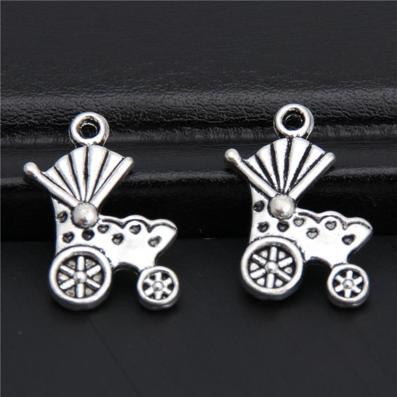 10Pcs Tibetan Silver Tone Shell White Glass Beads Charms Pendants 10x29mm