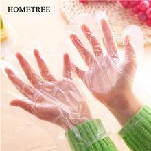 Домашний 100 шт одноразовые перчатки для ресторана чистые экологически чистые пластиковые гигиенические перчатки для пищевой промышленности кухонные аксессуары H771