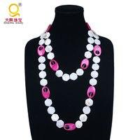 Mode neue design bunte shell halskette hexagon shell perlen halskette für frauen beste freunde für immer halskette