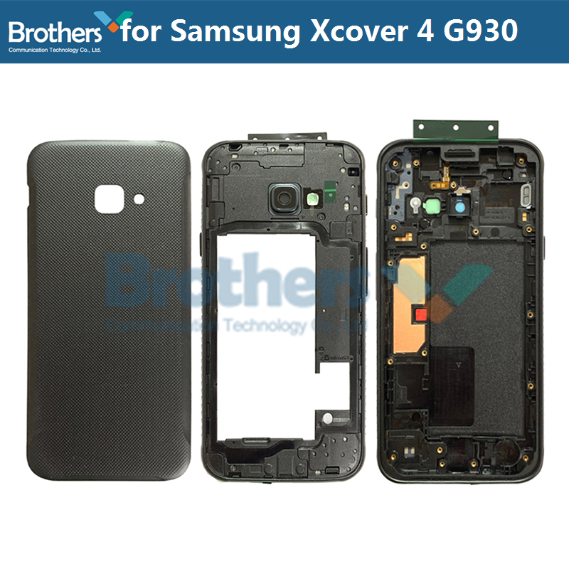 Full Housing For Samsung Galaxy Xcover 4 G390 Middle Frame With Camera Lens Buttons For Samsung G390 Back Case Back Housing Top