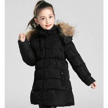 GirlsChildren's Down Jacket Childrens Down Jacket In The Long Section Thickening Autumn and Winter New Tide Children Down Jacket