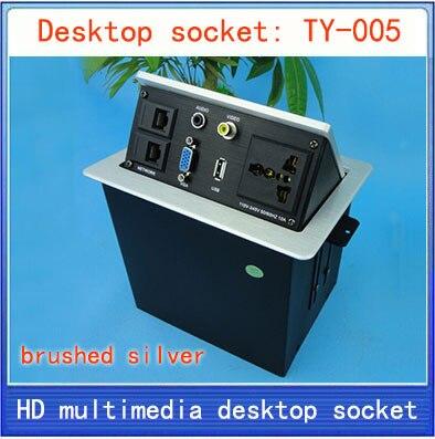 все цены на Desktop socket / hidden multimedia information box outlet /video Audio  network RJ45 USB VGA interface desktop socket TY-005 онлайн