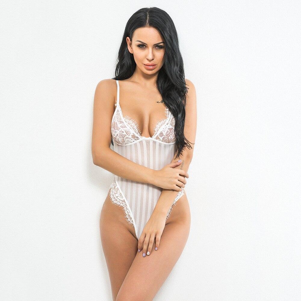 47a6075f3346e Sexy Lace Bra Brief Thong Bodysuit Hot Lingerie Teddy Women Bra Panties Set  Bodysuit One Piece Underwear-in Bra   Brief Sets from Underwear    Sleepwears on ...