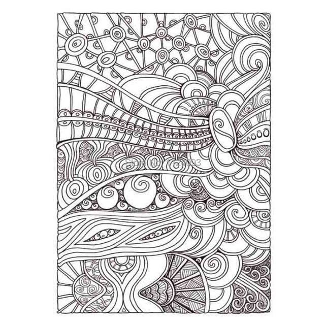 Booculchaha Creative Haven Coloring Book Entangled Anti Stress Art Adult Books