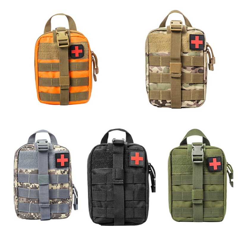 Nylon First Aid Bag Tactical Molle Medical Pouch EMT Emergency EDC Rip-Away Survival Utility First Aid Bag tactical molle medical first aid kit pouch tool kit pouch emergency survival gear edc hunting utility belt bag