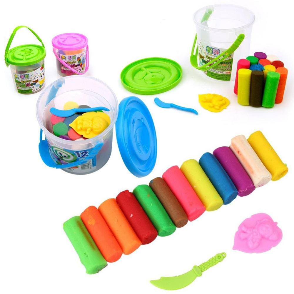 12 Colors Plasticine Child Diy Toys Child Interest
