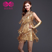 2017 Tango Dress Dress Special Offer Rushed Dance Costumes For Kids Latin Fringe 2016adult Female Clothing Sequined Tassels