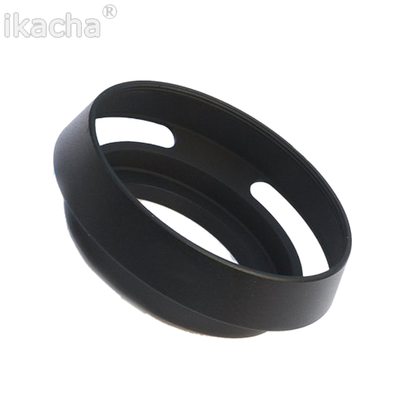 40.5 43 46 49 52 55 <font><b>58</b></font> 62 67mm Black Vented Curved Metal Camera <font><b>Lens</b></font> <font><b>Hood</b></font> For Leica M Pentax Sony Fujifilm image