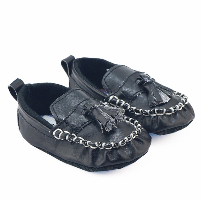 0-1 Baby Shoes Baby Toddler Shoes Black Boys Fashion Fringe First Walkers Baby Moccasins