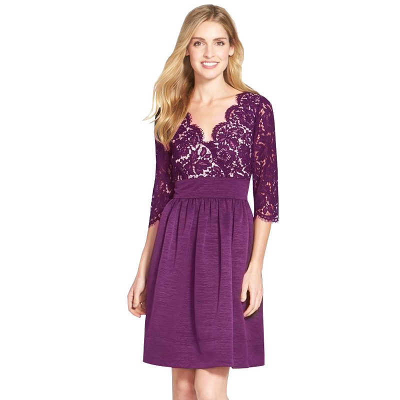 Magnífico Lace Dress Cocktail Ornamento - Vestido de Novia Para Las ...