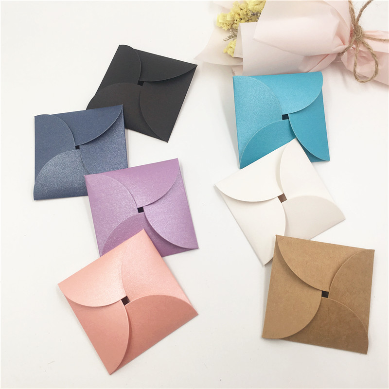 20pcs Colorful Kraft Earring Cards Cover Or Earring Cards,For Packaging Cute Exquisite Stud Earring,Easy To Store And Carry